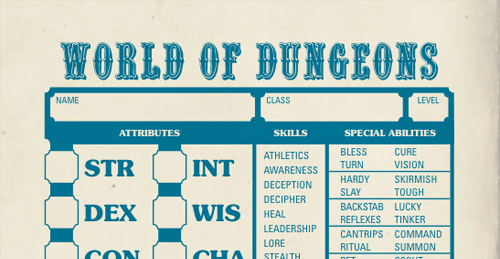 World of Dungeons Resources - Story Games Codex